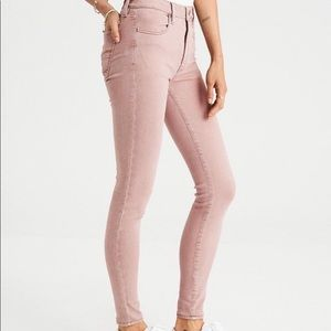 American Eagle Blush Pink High Rise Skinny Jeans